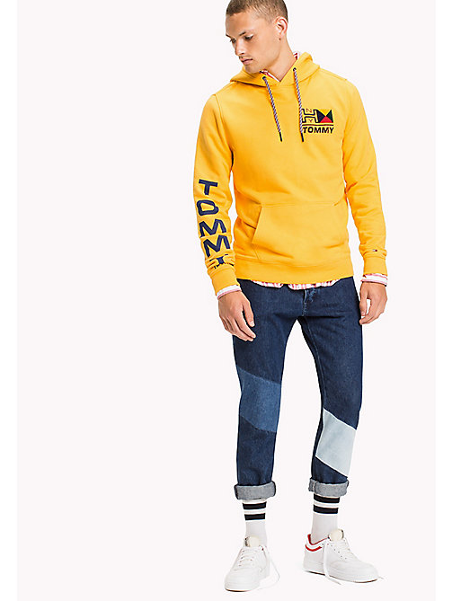 TOMMY JEANS Terry Logo Hoodie - ARTISANS GOLD - TOMMY JEANS MEN - main image