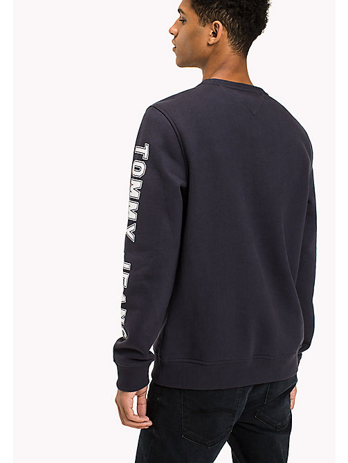 TOMMY JEANS Fleece Logo Sweatshirt - BLACK IRIS - TOMMY JEANS Hoodies & Sweatshirts - detail image 1