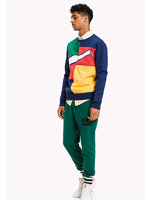 TOMMY JEANS Fleece Colour Block Sweatshirt - BLUE DEPTHS / MULTI - TOMMY JEANS Sweatshirts & Hoodies - main image