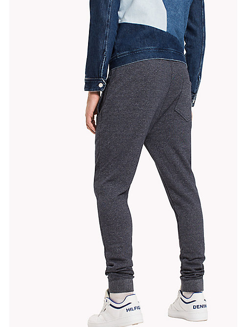 TOMMY JEANS French Terry Sweatpants - BLACK IRIS - TOMMY JEANS Trousers - detail image 1