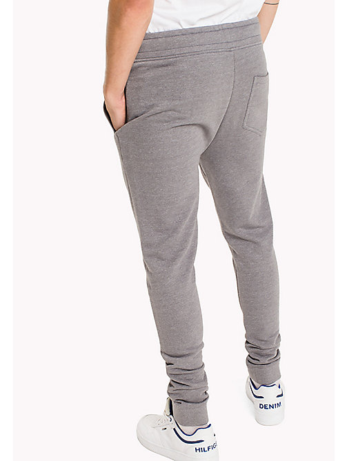 TOMMY JEANS French Terry Sweatpants - LT GREY HTR - TOMMY JEANS Trousers - detail image 1