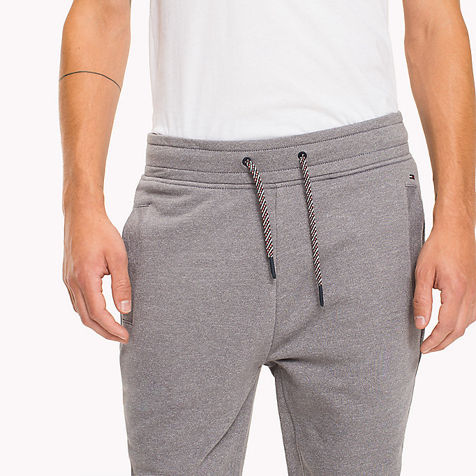 TOMMY JEANS French Terry Sweatpants - BLACK IRIS - TOMMY JEANS Clothing - detail image 4