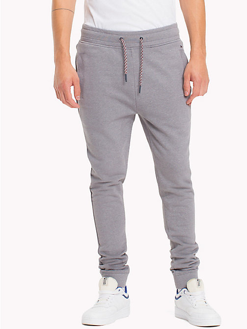 TOMMY JEANS French Terry Sweatpants - LT GREY HTR - TOMMY JEANS Trousers - main image