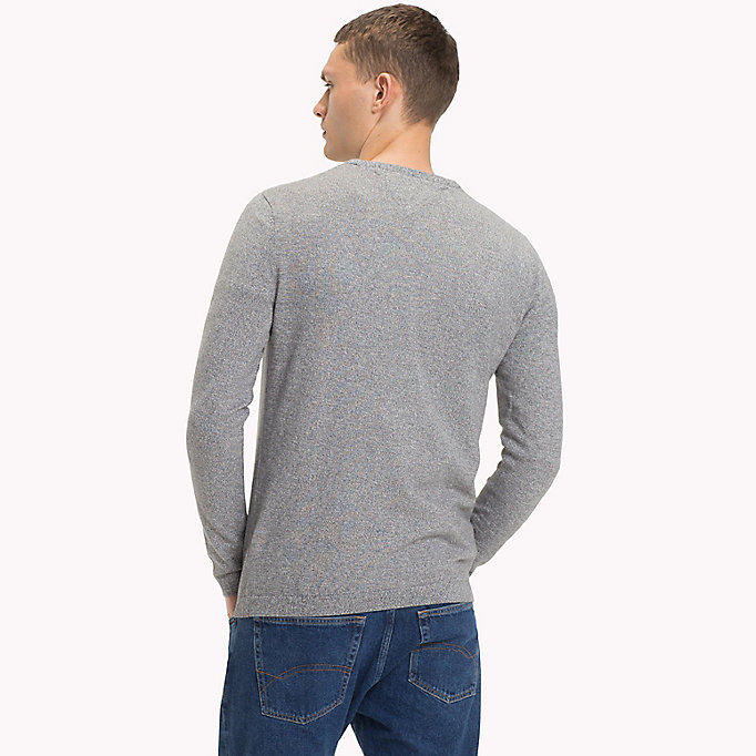 TOMMY JEANS Cotton Crew Neck Jumper - THYME - TOMMY JEANS Men - detail image 1