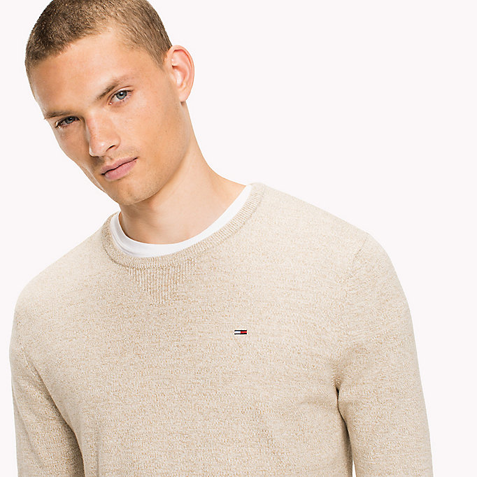 TOMMY JEANS Cotton Crew Neck Jumper - BLACK IRIS - TOMMY JEANS Men - detail image 2