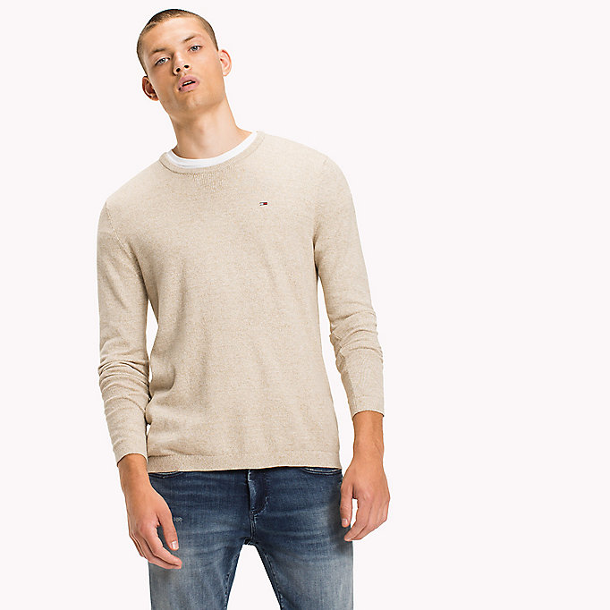 TOMMY JEANS Cotton Crew Neck Jumper - BLACK IRIS - TOMMY JEANS Men - main image