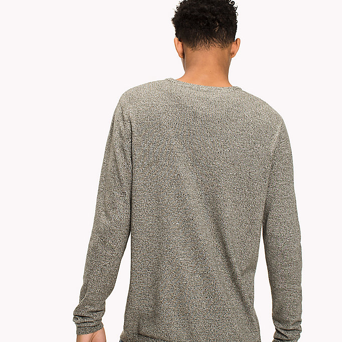 TOMMY JEANS Cotton Crew Neck Jumper - SESAME - TOMMY JEANS Men - detail image 1