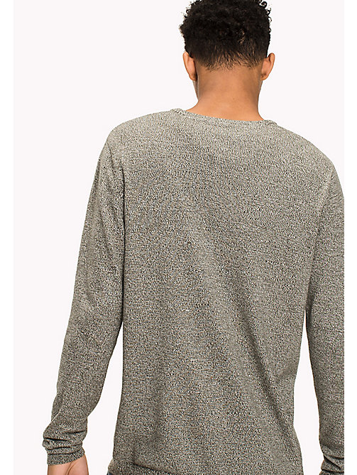 TOMMY JEANS Cotton Crew Neck Jumper - THYME - TOMMY JEANS Knitwear - detail image 1
