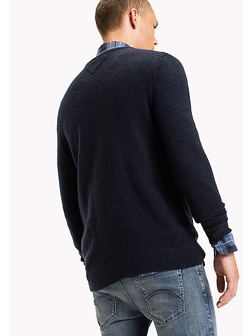 TOMMY JEANS Wool Blend Jumper - BLACK IRIS - TOMMY JEANS Knitwear - detail image 1