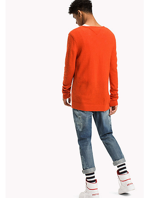 TOMMY JEANS Wool Blend Jumper - SPICY ORANGE - TOMMY JEANS Knitwear - detail image 1