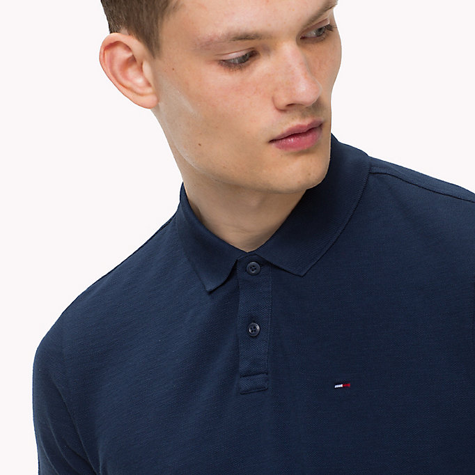 TOMMY JEANS Cotton Pique Polo - CAMEO BLUE - TOMMY JEANS Clothing - detail image 2