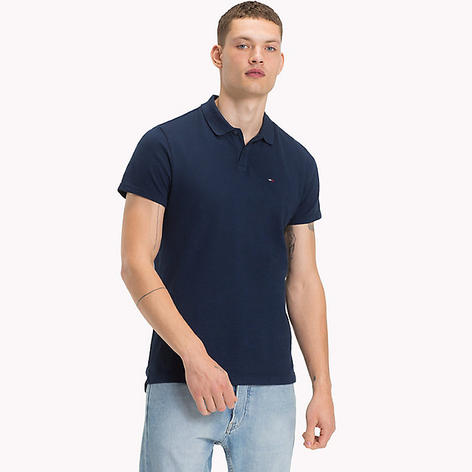 TOMMY JEANS Cotton Pique Polo - CAMEO BLUE - TOMMY JEANS Clothing - main image