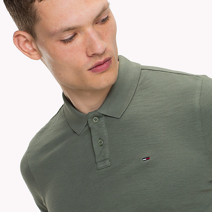 TOMMY JEANS Cotton Pique Polo - BLACK IRIS - TOMMY JEANS Clothing - detail image 2