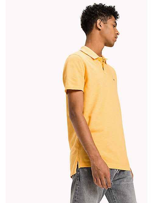 TOMMY JEANS Cotton Pique Polo - ARTISANS GOLD - TOMMY JEANS Polo Shirts - main image