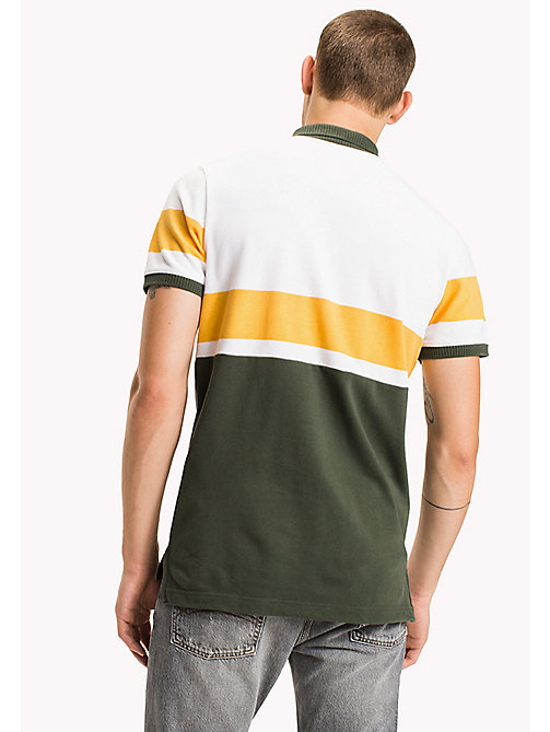 TOMMY JEANS Organic Cotton Polo - THYME / MULTI - TOMMY JEANS Polo Shirts - detail image 1