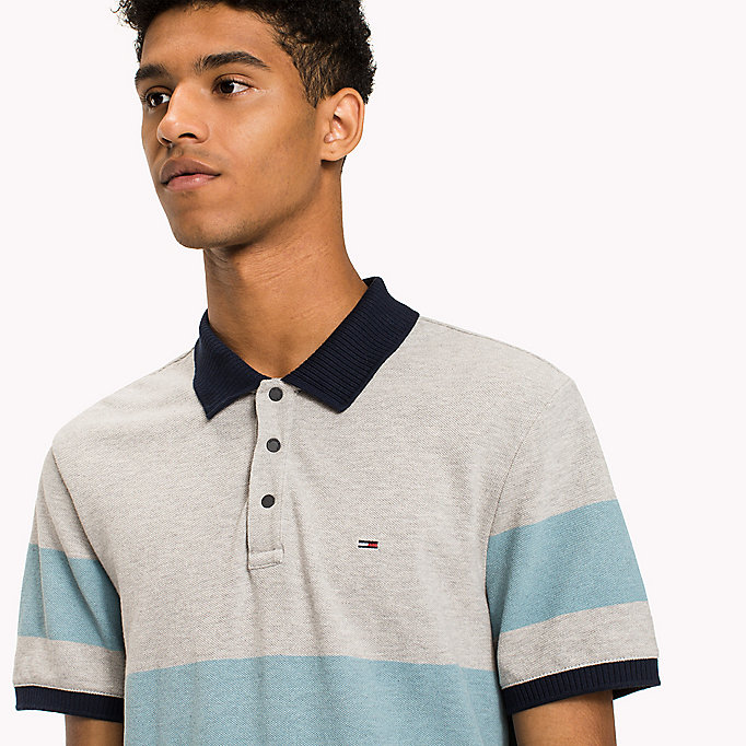 TOMMY JEANS Organic Cotton Polo - THYME / MULTI - TOMMY JEANS Clothing - detail image 2