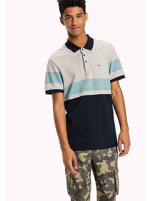 TOMMY JEANS Organic Cotton Polo - BLACK IRIS / MULTI - TOMMY JEANS Polo Shirts - main image