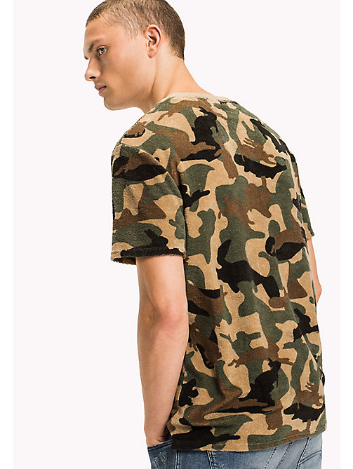 TOMMY JEANS Cotton Camouflage Shirt - CAMO PRINT - TOMMY JEANS T-Shirts & Polos - detail image 1