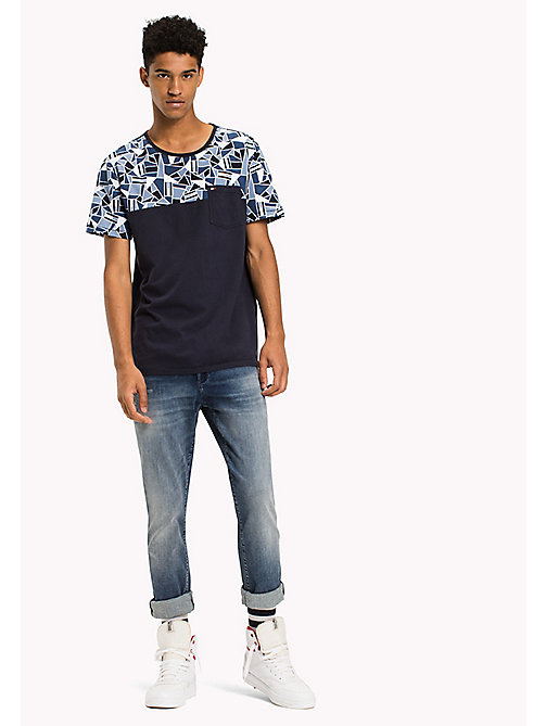 TOMMY JEANS Jersey Crew Neck T-Shirt - ABSTRACT FLAG / MULTI - TOMMY JEANS T-Shirts & Polos - main image