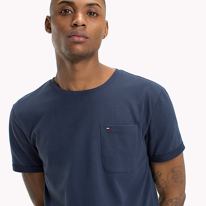 TOMMY JEANS Jersey Crew Neck T-Shirt - TOMMY BLACK - TOMMY JEANS Clothing - detail image 2