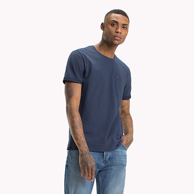 TOMMY JEANS Jersey Crew Neck T-Shirt - TOMMY BLACK - TOMMY JEANS Men - main image