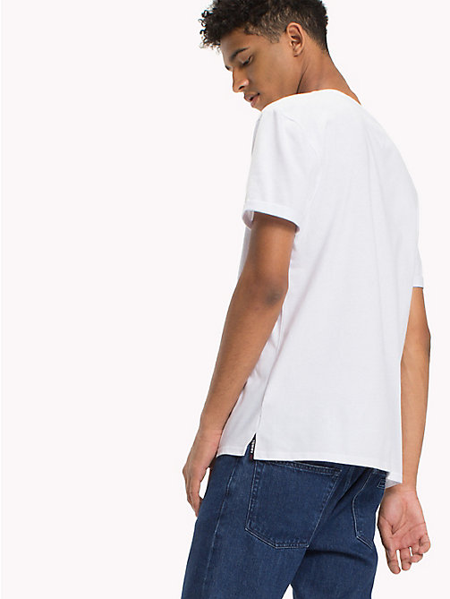 TOMMY JEANS Jersey Crew Neck T-Shirt - CLASSIC WHITE - TOMMY JEANS T-Shirts & Polos - detail image 1