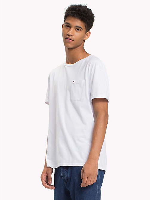 TOMMY JEANS Jersey Crew Neck T-Shirt - CLASSIC WHITE - TOMMY JEANS T-Shirts & Polos - main image