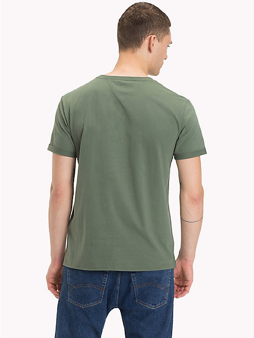 TOMMY JEANS Jersey Crew Neck T-Shirt - THYME - TOMMY JEANS T-Shirts & Polos - detail image 1