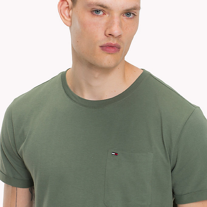 TOMMY JEANS Jersey Crew Neck T-Shirt - BLUE HORIZON - TOMMY JEANS Clothing - detail image 2