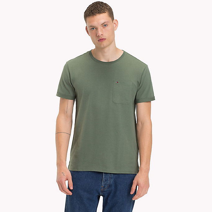 TOMMY JEANS Jersey Crew Neck T-Shirt - BLUE HORIZON - TOMMY JEANS Men - main image