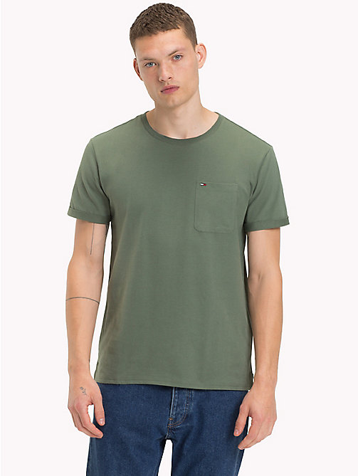 TOMMY JEANS Jersey Crew Neck T-Shirt - THYME - TOMMY JEANS T-Shirts & Polos - main image