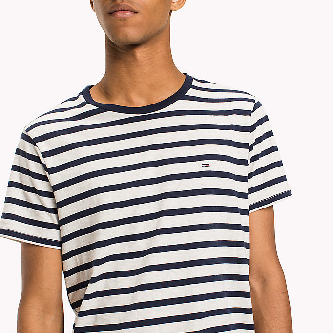 TOMMY JEANS Jersey Striped T-Shirt - CAMEO BLUE - TOMMY JEANS Men - detail image 2