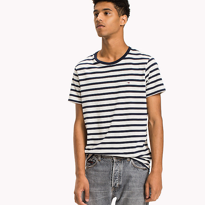 TOMMY JEANS Jersey Striped T-Shirt - CAMEO BLUE - TOMMY JEANS Clothing - main image