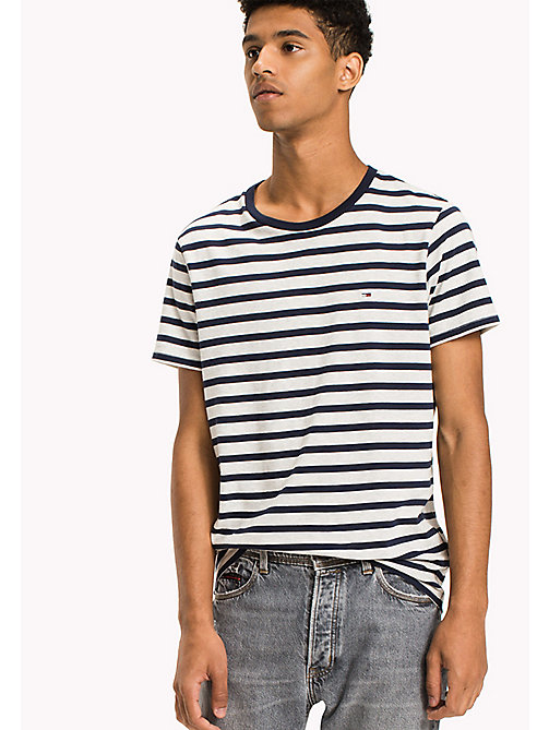 TOMMY JEANS Jersey Striped T-Shirt - BLACK IRIS - TOMMY JEANS T-Shirts & Polos - main image
