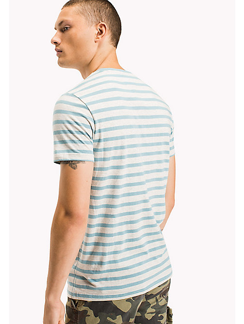 TOMMY JEANS Jersey Striped T-Shirt - CAMEO BLUE - TOMMY JEANS T-Shirts & Polos - detail image 1