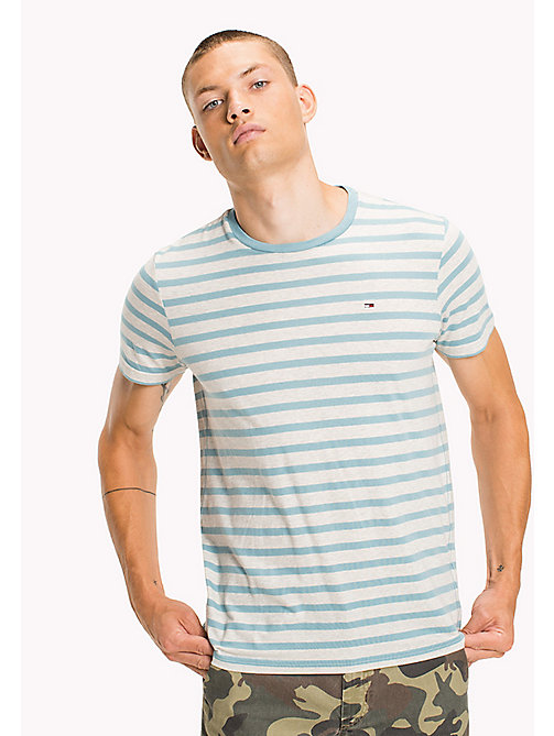 TOMMY JEANS Jersey Striped T-Shirt - CAMEO BLUE - TOMMY JEANS T-Shirts & Polos - main image