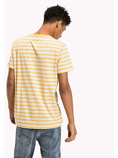TOMMY JEANS Jersey Striped T-Shirt - ARTISANS GOLD -  Clothing - detail image 1