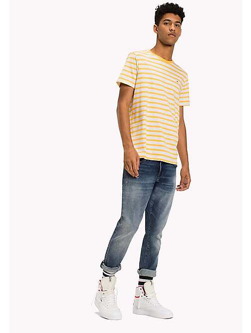 TOMMY JEANS Jersey Striped T-Shirt - ARTISANS GOLD -  Clothing - main image