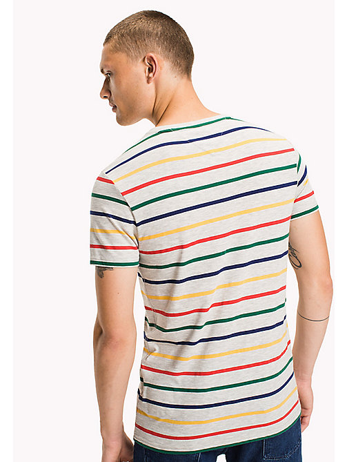 TOMMY JEANS Jersey Striped T-Shirt - LT GREY HTR / MULTI - TOMMY JEANS MEN - detail image 1