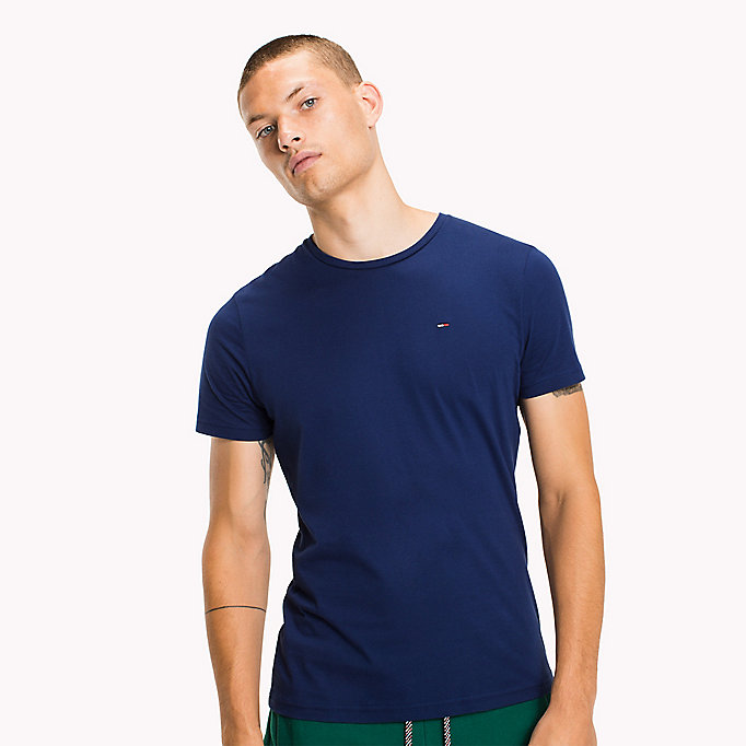 TOMMY JEANS Jersey Crew Neck T-Shirt - EVERGREEN - TOMMY JEANS Men - main image