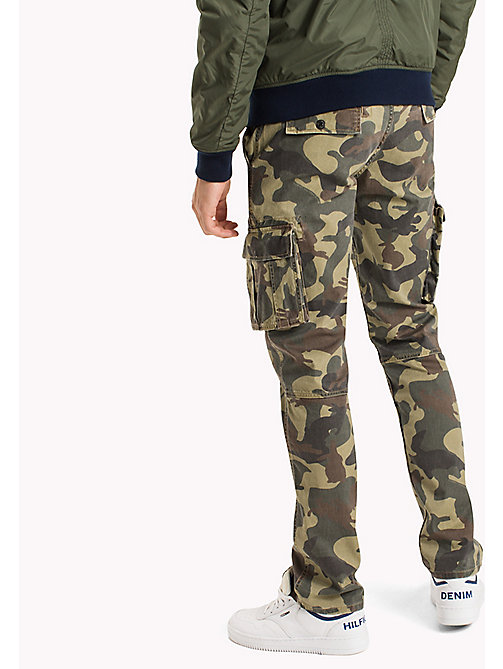 TOMMY JEANS Cotton Camouflage Cargos - CAMO PRINT - TOMMY JEANS Trousers - detail image 1