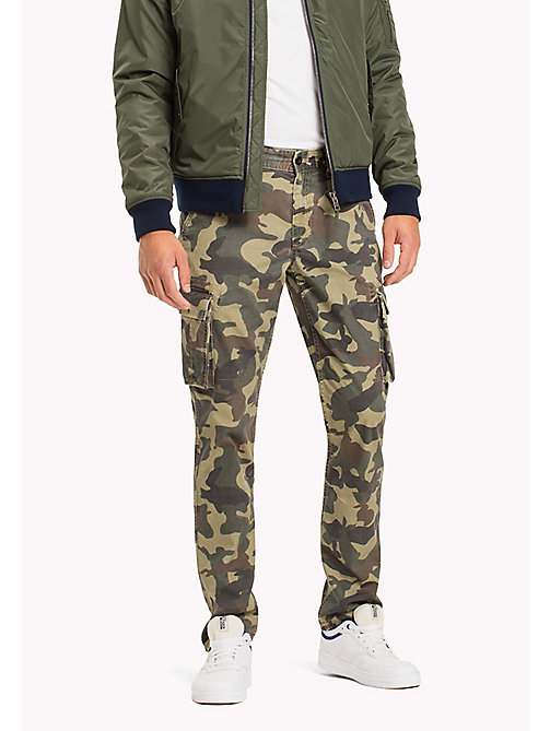 TOMMY JEANS Cotton Camouflage Cargos - CAMO PRINT -  Trousers & Shorts - main image