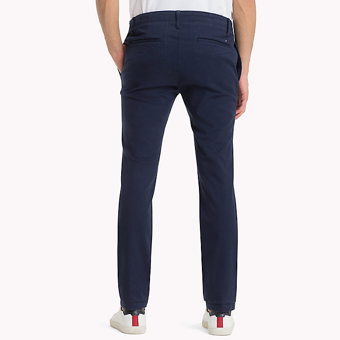 TOMMY JEANS Cotton Twill Slim Fit Chinos -  - TOMMY JEANS Clothing - detail image 1