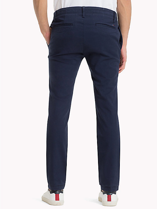 TOMMY JEANS Cotton Twill Slim Fit Chinos - BLACK IRIS - TOMMY JEANS Trousers & Shorts - detail image 1