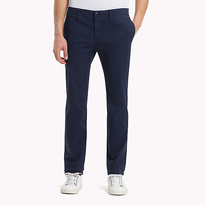 TOMMY JEANS Cotton Twill Slim Fit Chinos -  - TOMMY JEANS Clothing - main image