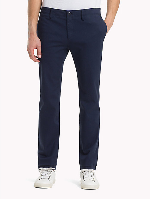 TOMMY JEANS Cotton Twill Slim Fit Chinos - BLACK IRIS - TOMMY JEANS  Trousers & Shorts ...