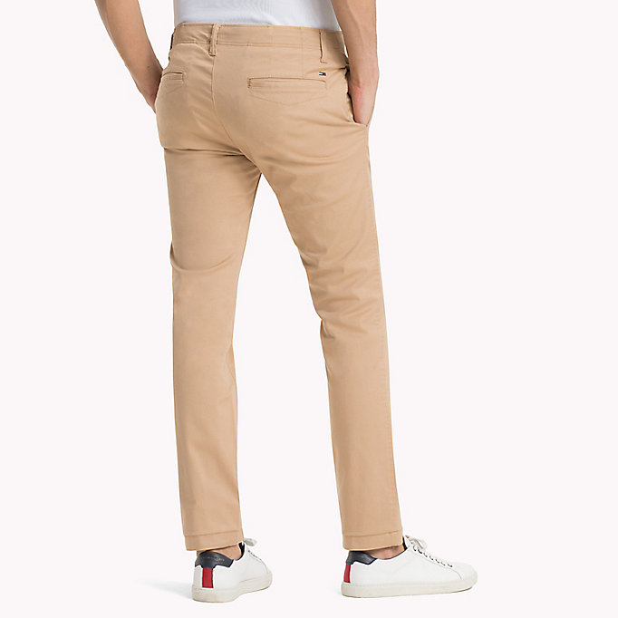 TOMMY JEANS Cotton Twill Slim Fit Chinos - BLACK IRIS - TOMMY JEANS Men - detail image 1