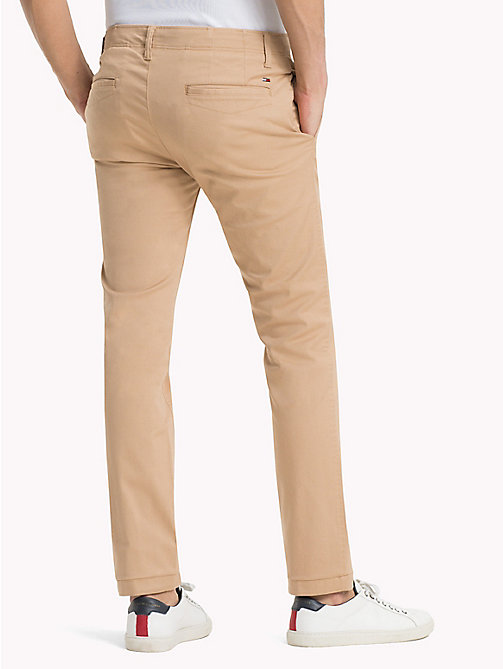 TOMMY JEANS Cotton Twill Slim Fit Chinos - SESAME - TOMMY JEANS Trousers - detail image 1