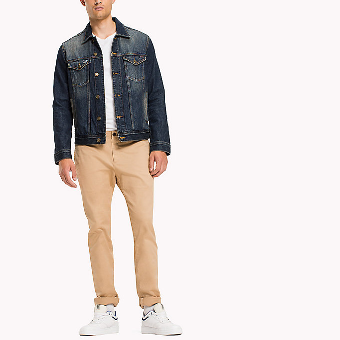 TOMMY JEANS Slim Fit Chinos aus Baumwoll-Twill - BLACK IRIS - TOMMY JEANS Kleidung - main image 3