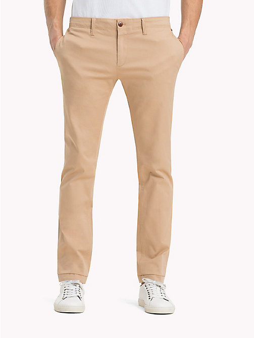 TOMMY JEANS Cotton Twill Slim Fit Chinos - SESAME - TOMMY JEANS Trousers - main image